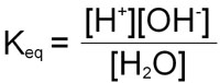 Equation for equilibrium constant