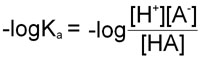 Equation for -logKa